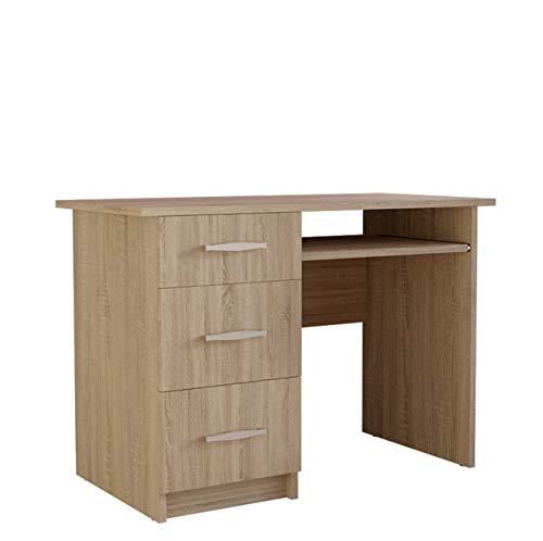 Mirjan24 Schreibtisch Jukon, Schülerschreibtisch, Computertisch, Arbeitstisch, Kinderschreibtisch, PC-Tisch, Jugendzimmer, Kinderzimmer (Sonoma)