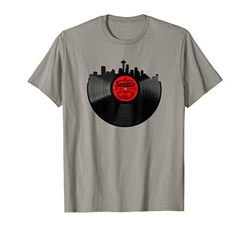 Seattle Washington Shirt Skyline Record Vintage T-Shirt