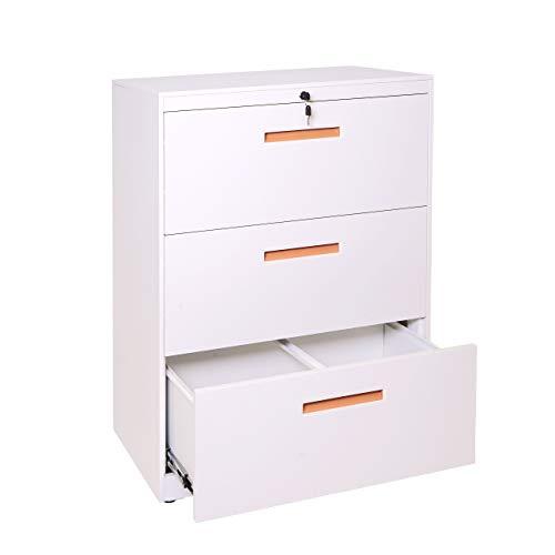 Mendler Hängeregisterschrank HWC-A10, Aktenschrank Büroschrank Stahlschrank, A4 abschließbar ~ 103x76x46cm weiß