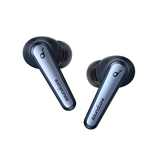 Anker Soundcore Liberty Air 2 Pro Bluetooth Kopfhörer, Aktive Noise Cancelling Geräuschunterdrückung, PureNote Technologie, 6 Mikforone, 26 Std. Akku, Bluetooth 5, Kabelloses Laden(Saphirblau)