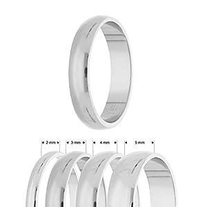Treuheld® | Ring aus 925 Sterling Silber | Ringgröße 56 | Breite 2mm | Damen & Herren | glänzend | Freundschaftsring, Verlobungsring, Ehering