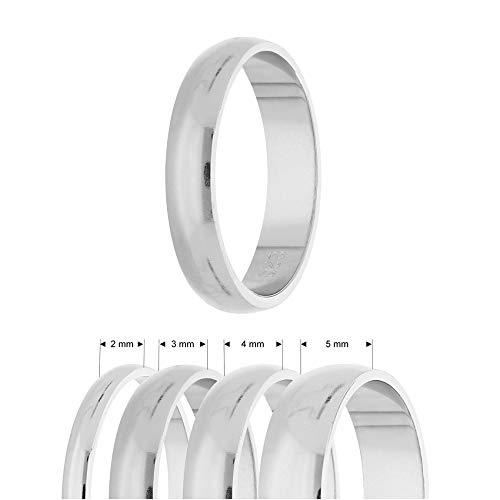 Treuheld® | Ring aus 925 Sterling Silber | Ringgröße 60 | Breite 4mm | Damen & Herren | glänzend | Freundschaftsring, Verlobungsring, Ehering