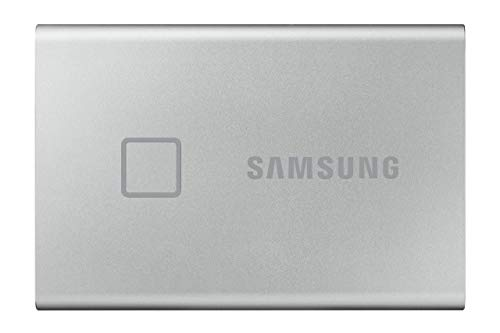Samsung T7 Touch Portable SSD - 500 GB - USB 3.2 Gen.2 Externe SSD Metallic Silver (MU-PC500S/WW)