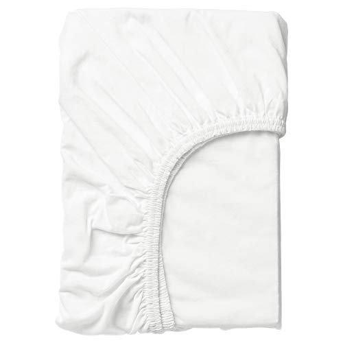 Ikea Len Fitted Baby Crib Sheet, 28' x 63', White