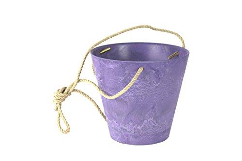 Artstone Pot de Fleurs, Coupe de Fleurs Claire, résistant au Gel et ultraléger, Violet, 17x15cm