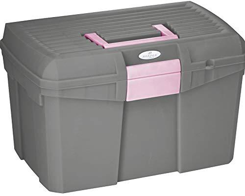 Reitsport Amesbichler Putzbox Norton, grau/rosa Putzkiste Putzkoffer Putzkasten Putzbox für Pferde