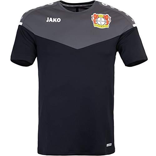 JAKO Bayer 04 Leverkusen Champ 2.0 Trikot (L, Black/Anthracite)