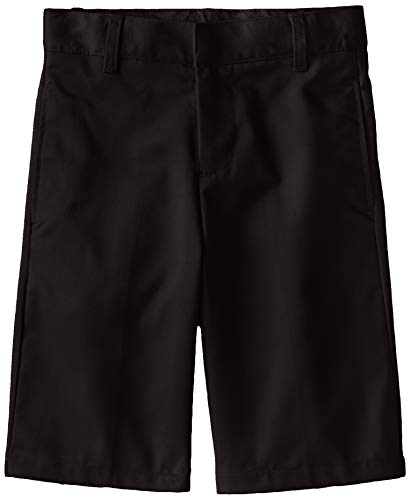 French Toast Little Boys' Basic Flat Front Short with Adjustable Waist, Black, 6