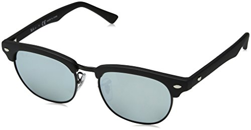 Ray-Ban Junior Kids' RJ9050S Clubmaster Square Sunglasses, Blue/Blue...