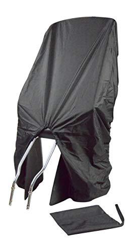 TROCKOLINO Wasserdichter Regenschutz für Fahrradkindersitz - schwarz