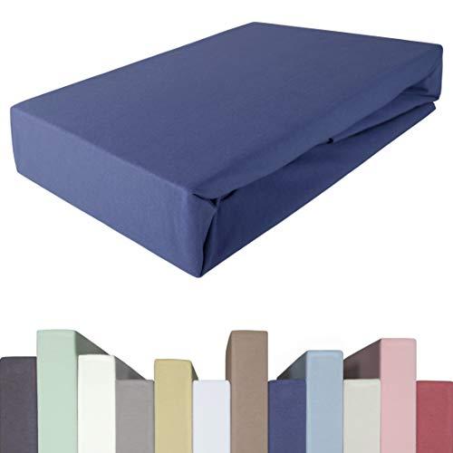 Edda Lux Spannbettlaken für BOXSPRINGBETT & bis zu 40 cm hohe Matratzen   Premium-Qualität   Baumwolle m. 5% Elasthan   schwere 190 g/m²   180 x 200   200 x 200   200 x 220 cm   Jersey-Spannbetttuch