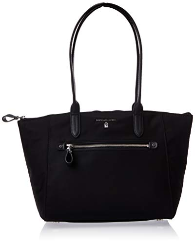Michael Kors Kelsey Medium Nylon Tote- Black