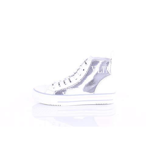 VALENTINO GARAVANI UW2S0AB3UAC Zapatillas Alto Mujer Plata y Blanco 36