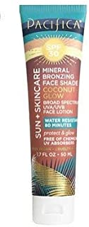 PACIFICA Mineral Bronzing Face Shade Coconut Glow SPF 30 1.7oz, pack of 1