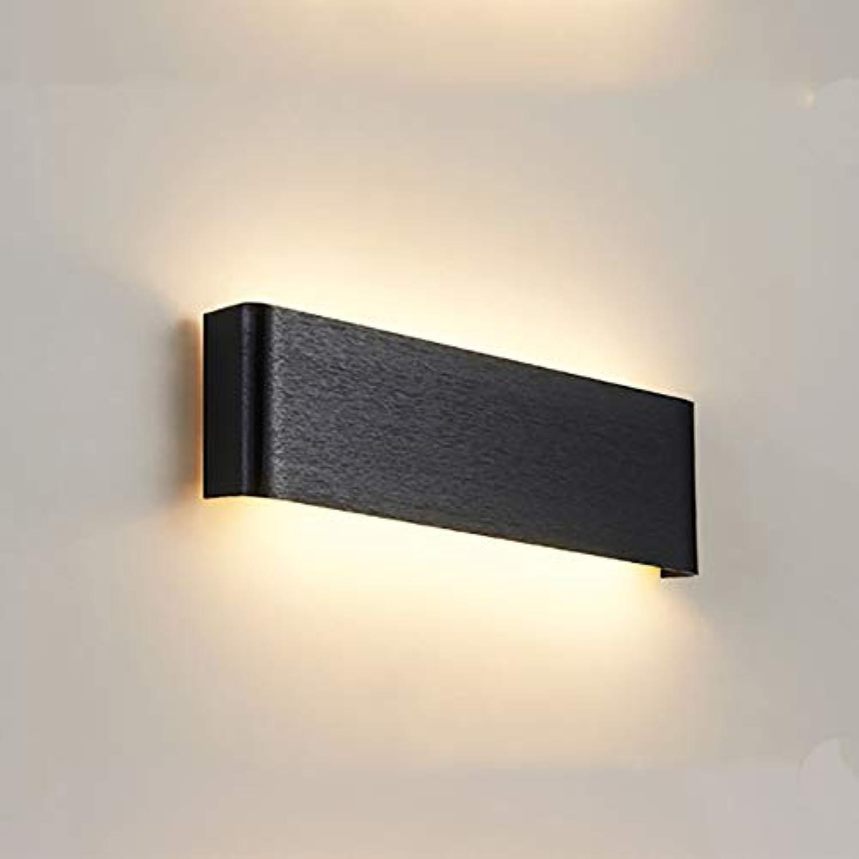 LIGHTLAMPER Modern Wandleuchte Innen LED Wandlampe Aluminium 120°Ausstrahlungswinkel Wandbeleuchtung für Schlafzimmer Wohnzimmer Flur Treppen [Energieklasse A+++]