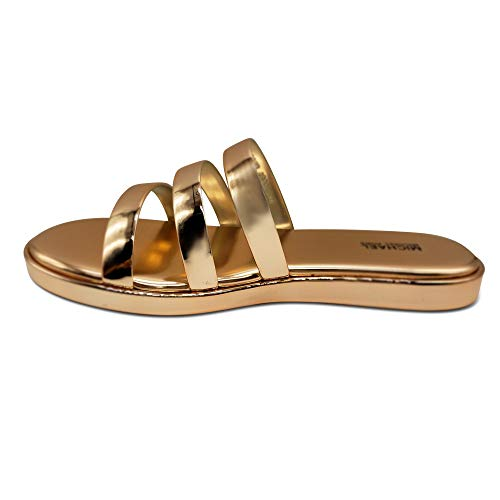 Femmes Michael Michael Kors Slide Chaussures Couleur Rose Rose Gold Taille 37 EU