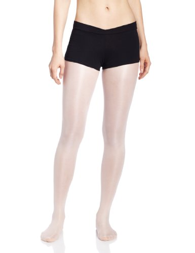 Capezio Women's V-Front Boy Short, Black, Medium