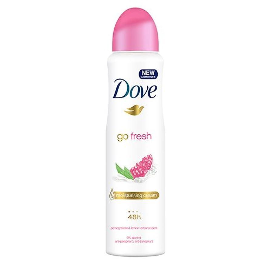 主要な住むカメラDove Go Fresh Spray Antiperspirant Deodorant, Pomegranate and Lemon Verbena, 150ml