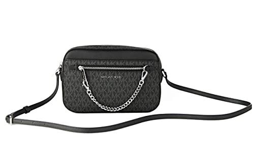 Dimensions: L 24 cm x H 16 cm x D 6 cm Adjustable shoulder strap Black saffiano leather