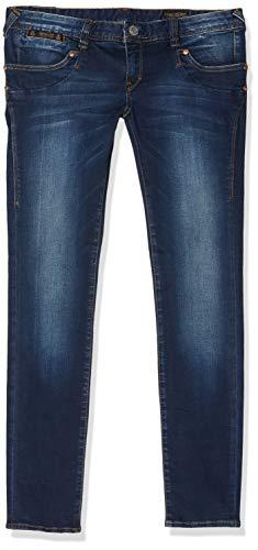 Herrlicher Damen Piper Slim Jeans, Blau (Clean 051), W30/L32 (Herstellergröße: 30/32)