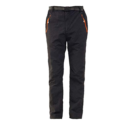 LaoZan Hombres Mujer Exterior Conjunto Chaqueta Pantalones de Senderismo Hidrófugo Respirable Secado Rápido Escalada Ropa de Calle Pantalones de Ciclismo (Negro#2(Mujer),3XL