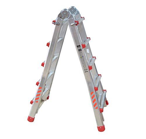 Escalera Plegable DE ALUMINO MULTIFUNCION Extensible 4 x 5 PELDAÑOS