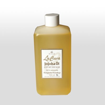 LaCura Jojoba-Öl 500ml, 100% naturrein, kaltgepresst, biologische Hautpflege