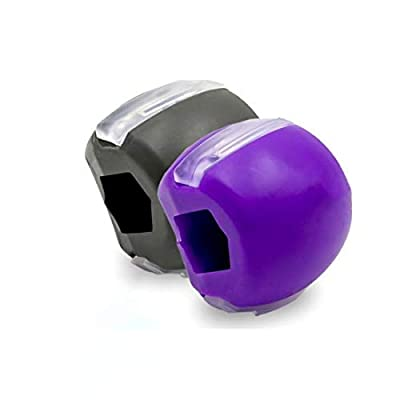 Jawzrsize Jaw, Face and Neck Exerciser -jaw Exerciser, Jaw and Facial Toner-define Your Jawline, Slim and Tone Your Face, Look Younger and Healthier (purple)