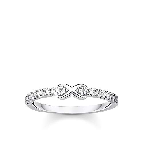 Thomas Sabo Women Ring Infinity with White Stones Silver 925 Sterling Silver TR2322-051-14