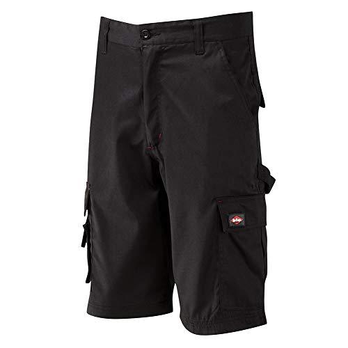 Lee Cooper werkkleding LCSHO806 Mens Multi Pocket werk veiligheid broek Cargo Shorts Korte broek 42W x 30L Zwart