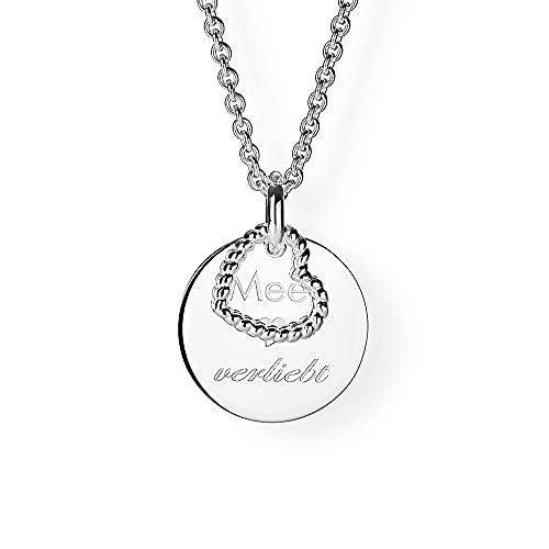 Marca Amazon – Colgante Hikaro de plata de ley con cita y corazón | Colgante de plata de ley 925 para mujer | AD AK 36