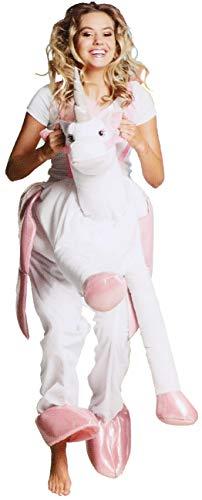 com-four® Kostüm Einhorn für Erwachsene, ideal für Fasching, Karneval, Halloween oder Junggesellenabschied (01 Stück - Kostüm Einhorn)