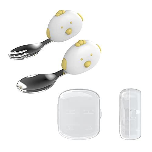 Juego de cubiertos de acero inoxidable tenedores cucharas cubiertos conjunto de utensilios de cocina vajilla utensilios de alimentación blanco pp caja de almacenamiento