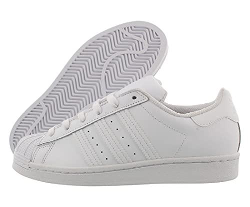 adidas Originals Women's Superstar Sneaker, White/White/White, 10