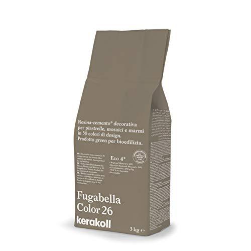 KERAKOLL FUGABELLA COLOR - 26 Sacco da 3 kg di stucco resina cemento decorativa per fughe