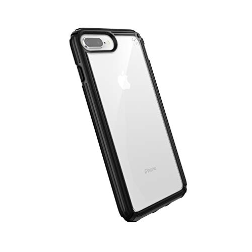 spec iphone 7 plus cases Speck Products Compatible Phone Case for Apple iPhone 8 Plus, Presidio V-Grip Case, Clear/Black