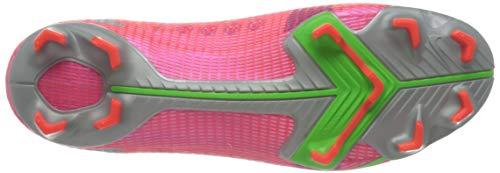 Nike Unisex Adults Vapor 14 PRO FG Soccer Shoe, BRT Crimson/MTLC Silver-Indigo Burst-White-Rage Green, 5 UK