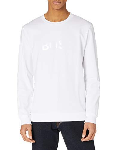 BOSS Herren Heritage Sweatshirt, White100, L