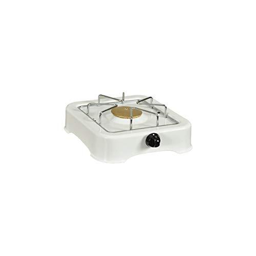 KitchenChef 5318 Dessus de table Gaz Blanc plaque - plaques (Dessus de table, Gaz, Émaillé, Blanc, Rotatif, Devant)