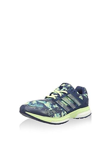 adidas Damen Response Boost Graphic 2 Laufschuhe, blau/Limette, 40 2/3 EU