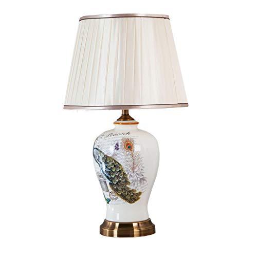 Lampe de table en céramique chambre lampe de chevet salon rétro lampe de table