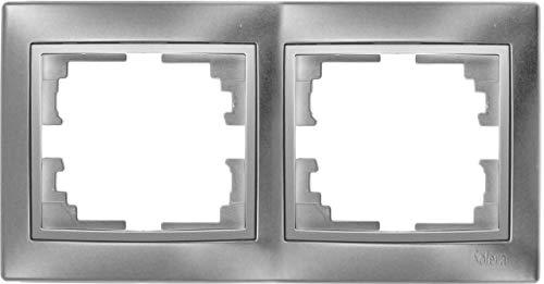 Marco 2 elementos plata 154x81x10mm SOLERA ERP72AU