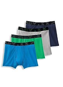Jockey Men s Underwear ActiveBlend Boxer Brief - 4 Pack Blue Curacao/Shamrock Green/Quartz Grey/Navy M
