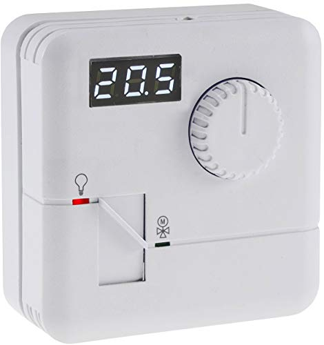 Aufputz Raumtemperatur-Regler Steuereinheit mit Thermostat 110V-230V LED-Display Regelt 5-30°C