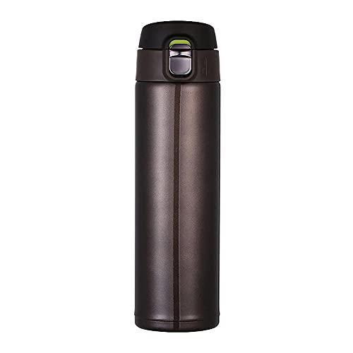 BAWAQAF Taza de café, 500 ml portátil termo taza de café, con tapa Thermocup sello de acero inoxidable frascos de vacío, para botellas de agua de coche