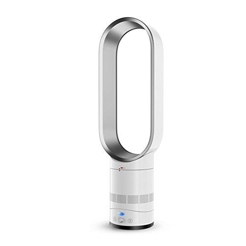 Raffreddatore d'Aria,radiatore Aria Ventola Bladeless,condizionatore d'Aria Ventola Raffredamento Sicurezza di Ioni Negativi Ventilatore A Torre,Ventilatore Muto-Silver 16inch