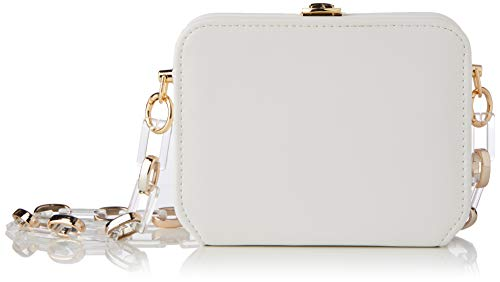 SwankySwans Nadine, Bolsa de embrague para Mujer, White, One Size