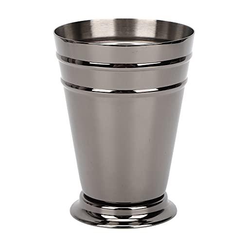 Copa de cóctel EVTSCAN, vaso de cóctel refrigerado de acero inoxidable 304, barra anticaída, herramienta de barman para fiestas(Negro)