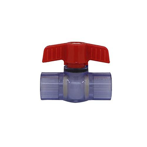 Valvula bola pvc grifo tubo 20 25 32 40 50 63mm llave de paso pvc tuberia valvula esfera agua valvula encolar agricola (Diámetro Interno 20mm)