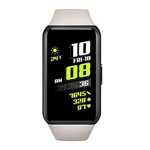 HONOR Band 6 Smartwatch Pantalla Táctil de 1,47 Pulgadas Reloj Inteligente Impermeable 5ATM con Monitor de Sueño Pulsómetros Podómetro Contador de Caloría para Hombre Mujer Android iOS, Gris